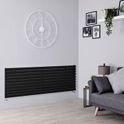 Milano Aruba - Black Horizontal Designer Radiator - 590mm x 1780mm