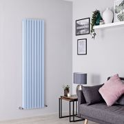 Milano Capri - Baby Blue Vertical Designer Radiator - 1780mm x 472mm (Double Panel)