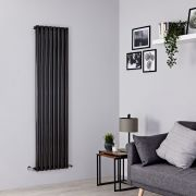 Milano Java - Black Vertical Designer Radiator - 1780mm x 472mm