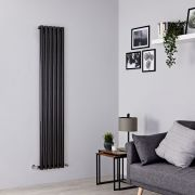 Milano Java - Black Vertical Designer Radiator - 1780mm x 354mm