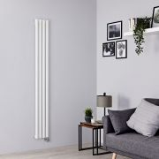 Milano Aruba Slim Electric - White Vertical Designer Radiator - 1780mm x 236mm