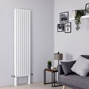 Milano Aruba Plus - White Vertical Designer Radiator - 2000mm x 472mm (Double Panel)