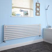 Milano Capri - White Flat Panel Horizontal Designer Radiator - 472mm x 1780mm