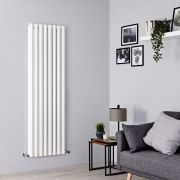 Milano Viti - White Diamond Panel Vertical Designer Radiator - 1780mm x 560mm (Double Panel)