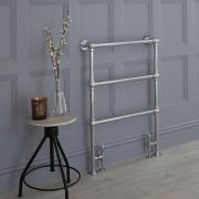 Milano Derwent - Traditional Minimalist Heated Towel Rail - 930mm x 632mm