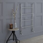Milano Derwent - Traditional Brass Minimalist Heated Towel Rail - 900mm x 500mm