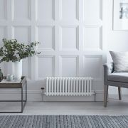 Milano Windsor - White Horizontal Traditional Column Radiator - 300mm x 605mm (Triple Column)