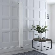 Milano Windsor - White Vertical Traditional Electric Column Radiator - 1500mm x 200mm (Double Column) - Choice of Wi-Fi Thermostat
