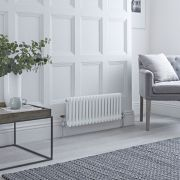 Milano Windsor - White Horizontal Traditional Column Radiator - 300mm x 785mm (Double Column)