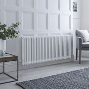 Milano Windsor - Traditional White 2 Column Electric Radiator - 600mm x 1505mm (Horizontal) - with Choice of Wi-Fi Thermostat