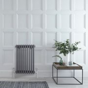 Milano Windsor - Anthracite Horizontal Traditional Column Radiator - 600mm x 425mm (Triple Column)