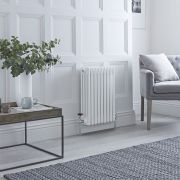 Milano Windsor - White Horizontal Traditional Column Radiator - 600mm x 425mm (Four Column)