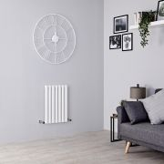 Milano Aruba Aiko - White Horizontal Designer Radiator - 600mm x 415mm