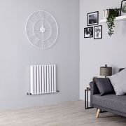 Milano Aruba Aiko - White Horizontal Designer Radiator - 600mm x 595mm (Double Panel)