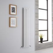Milano Aruba Aiko - White Vertical Designer Radiator - 1400mm x 236mm