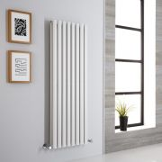 Milano Aruba Aiko - White Vertical Designer Radiator - 1400mm x 472mm (Double Panel)