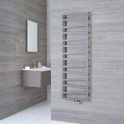 Terma ZigZag - Silver Vertical Heated Towel Rail - 1545mm x 500mm