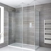 Milano Alto - Corner Walk-In Shower Enclosure with Tray - Choice of Sizes