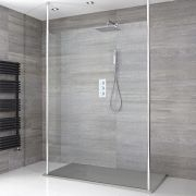 Milano Alto - Floating Wet-Room Shower Enclosure with Slate Tray - Choice of Sizes