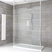 Milano Alto - Floating Wet-Room Shower Enclosure with Tray - Choice of Sizes