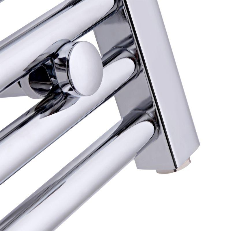 Kudox Electric Towel Rail 400mm X 700mm Chrome: Chrome Flat Heated Towel Rail