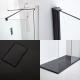 Milano Nero Corner Walk-In Shower Enclosure (1700 x 800mm) - Inc. Slate Tray