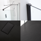 Milano Nero Corner Walk-In Shower Enclosure (1700 x 800mm) - Inc. Slate Tray & Return Panel