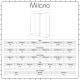 Milano Portland Corner Walk-In Shower Enclosure (1400 x 800mm) - Inc. Slate Tray & Return Panel