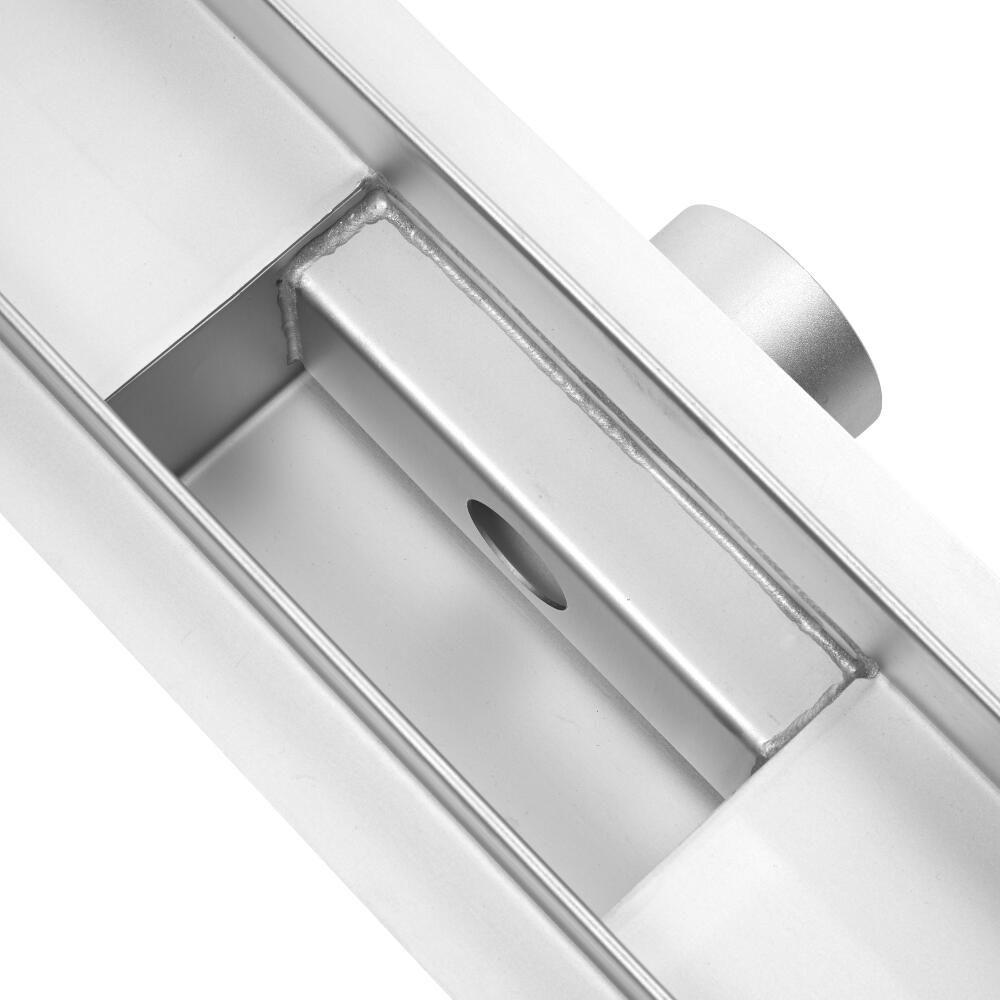Milano 1200mm Tile Insert Linear Stainless Steel Shower