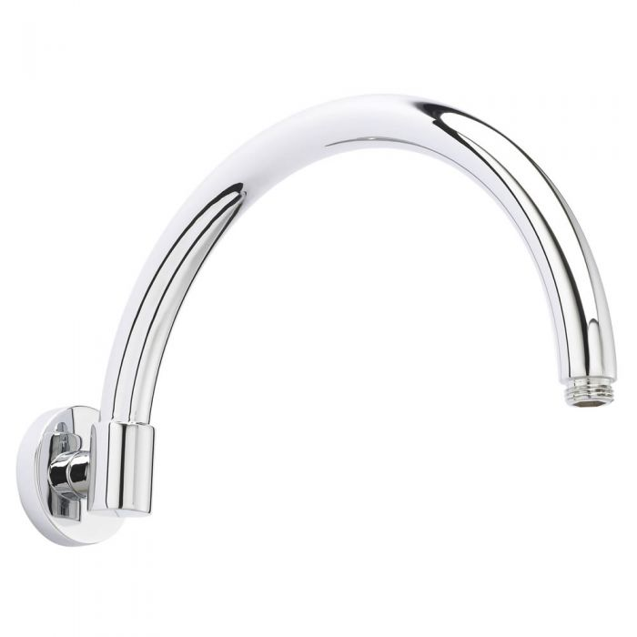 Milano Elizabeth - Wall Mounted Curved Shower Arm - Chrome
