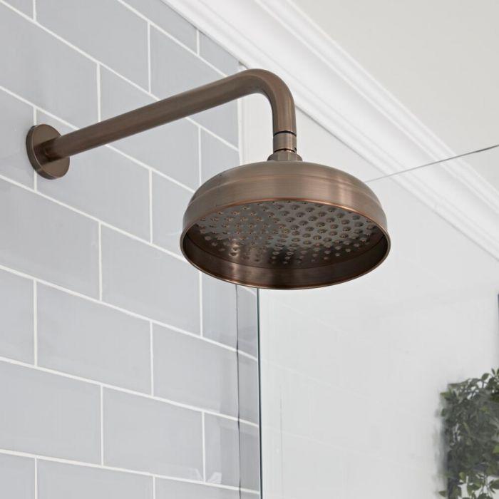 Milano Elizabeth - 200mm Traditional Apron Shower Head - Oil Rubbed Bronze