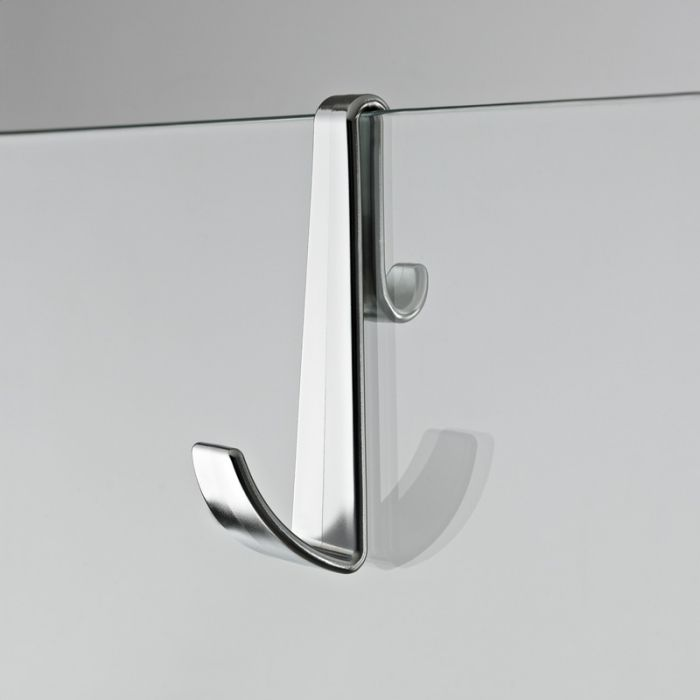 Milano - Robe and Towel Hook for Frameless Shower Enclosures - Chrome