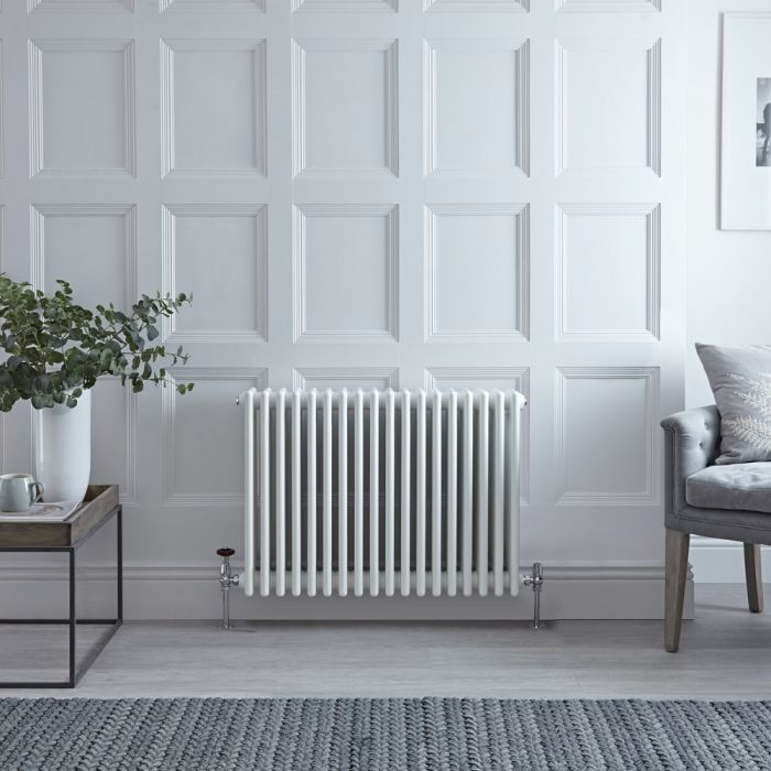 Stelrad Regal - White Horizontal Traditional Column Radiator - 600mm x 858mm (Four Column)