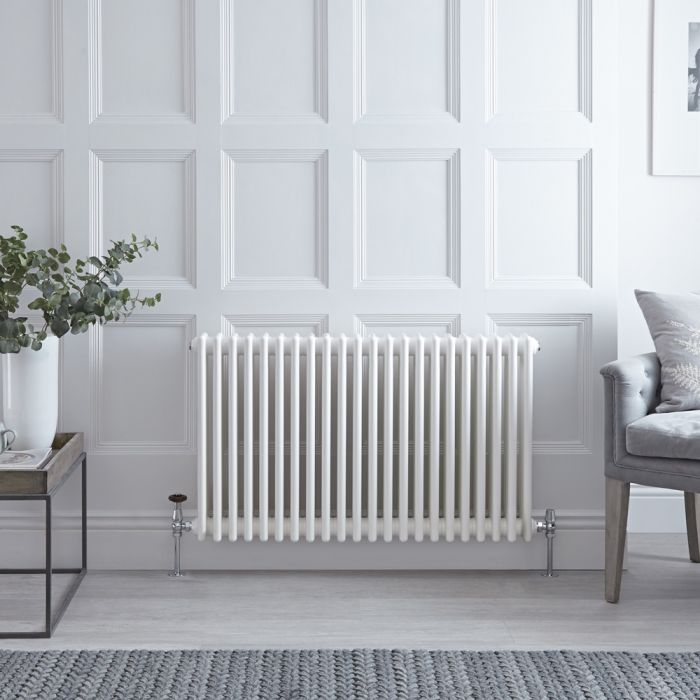 Stelrad Regal - White Horizontal Traditional Column Radiator - 750mm x 1042mm (Triple Column)