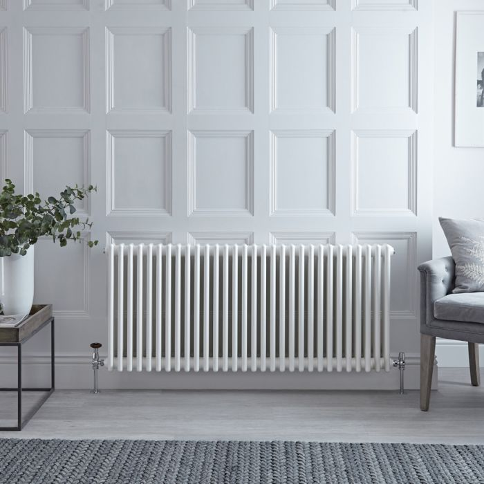 Stelrad Regal - White Horizontal Traditional Column Radiator - 750mm x 1456mm (Triple Column)