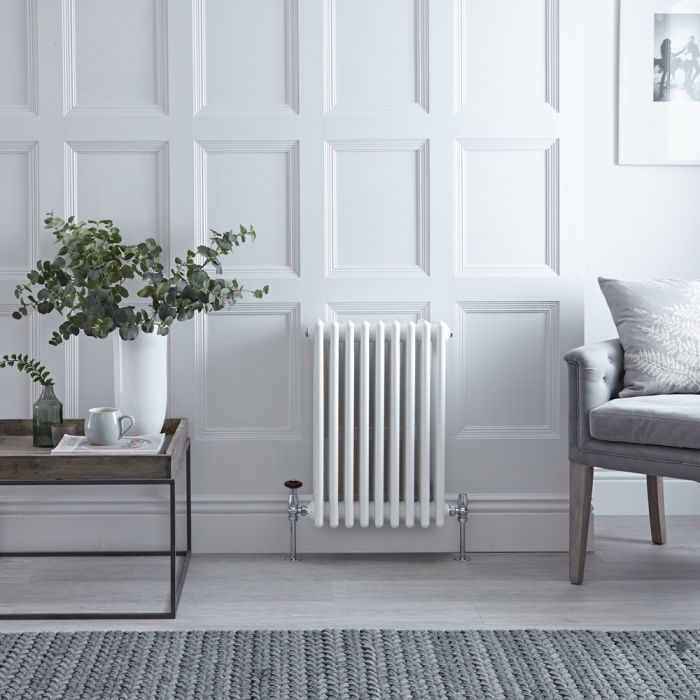Stelrad Regal - White Horizontal Traditional Column Radiator - 750mm x 444mm (Four Column)