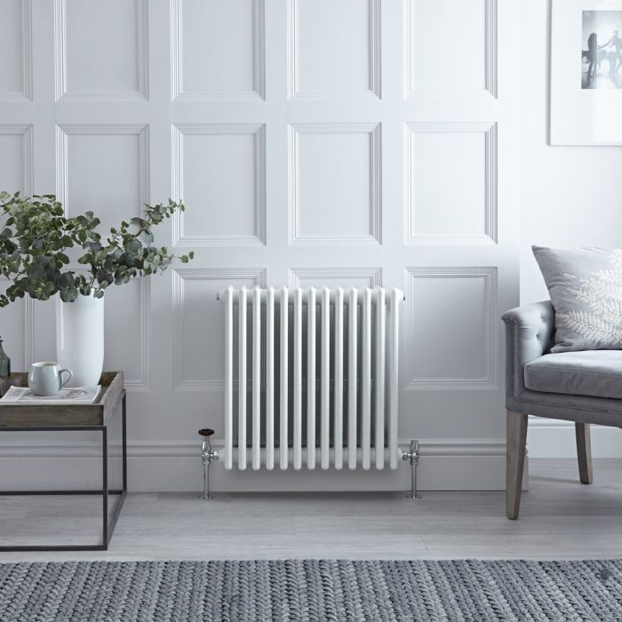 Stelrad Regal - White Horizontal Traditional Column Radiator - 750mm x 628mm (Four Column)
