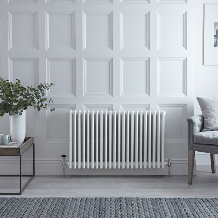 Stelrad Regal - White Horizontal Traditional Column Radiator - 750mm x 1042mm (Four Column)