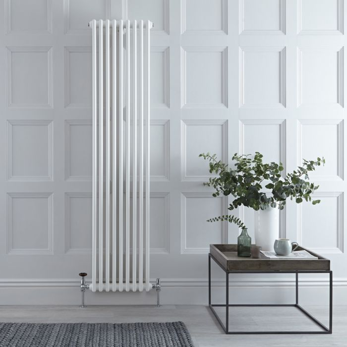 Stelrad Regal - White Traditional Vertical Column Radiator - 1800mm x 444mm (Double Column)