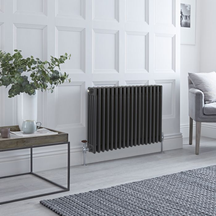 Stelrad Regal - Anthracite Horizontal Traditional Column Radiator - 600mm x 858mm (Four Column)