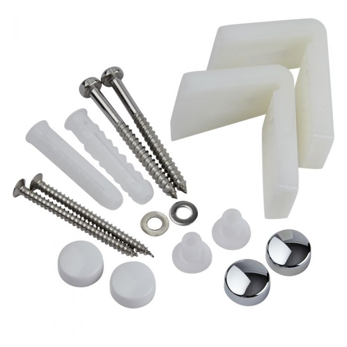 Milano - Angled Fixing Kit for Toilet Pans, Bidets or Semi Pedestal