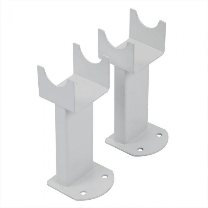 Milano - White Floor-Mounting Feet for Aruba, Capri & Java Vertical Designer Radiators