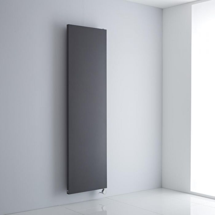 Milano Riso Electric - Anthracite Flat Panel Vertical Designer Radiator 1800mm x 500mm