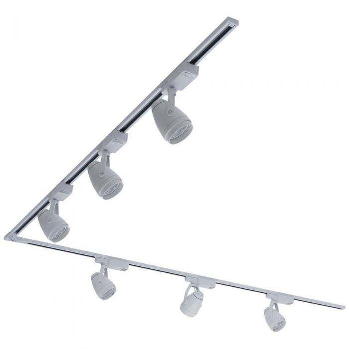 Biard LED 6 x 12W Light L Shaped Track Light Kit - White