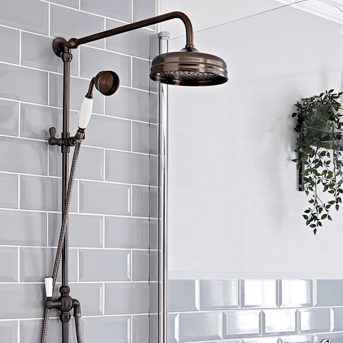 Milano Elizabeth - Traditional Grand Rigid Riser Shower Kit with Hand Shower - Oil Rubbed Bronze