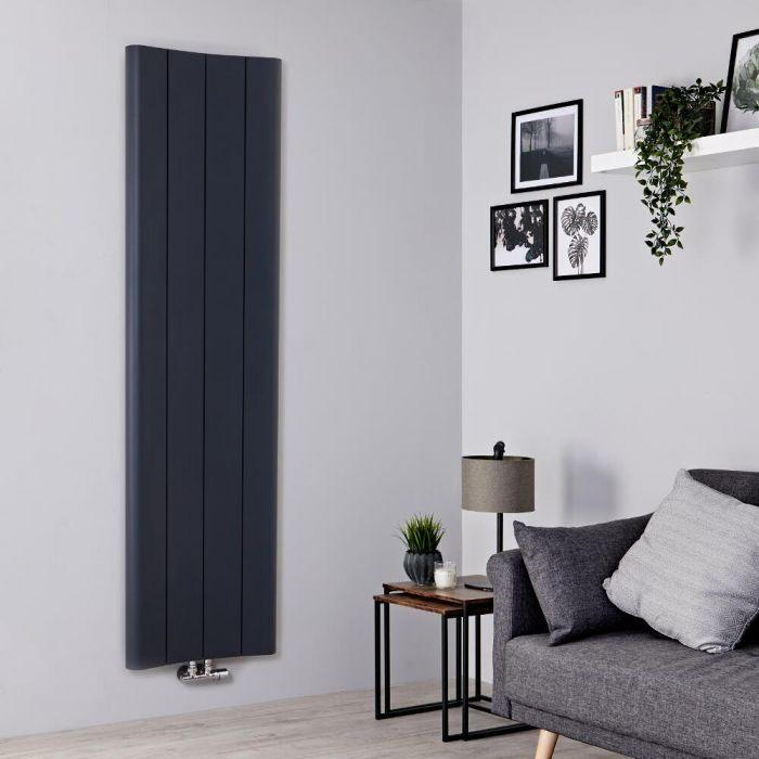 Milano Solis - Aluminium Anthracite Vertical Designer Radiator - 1800mm x 495mm