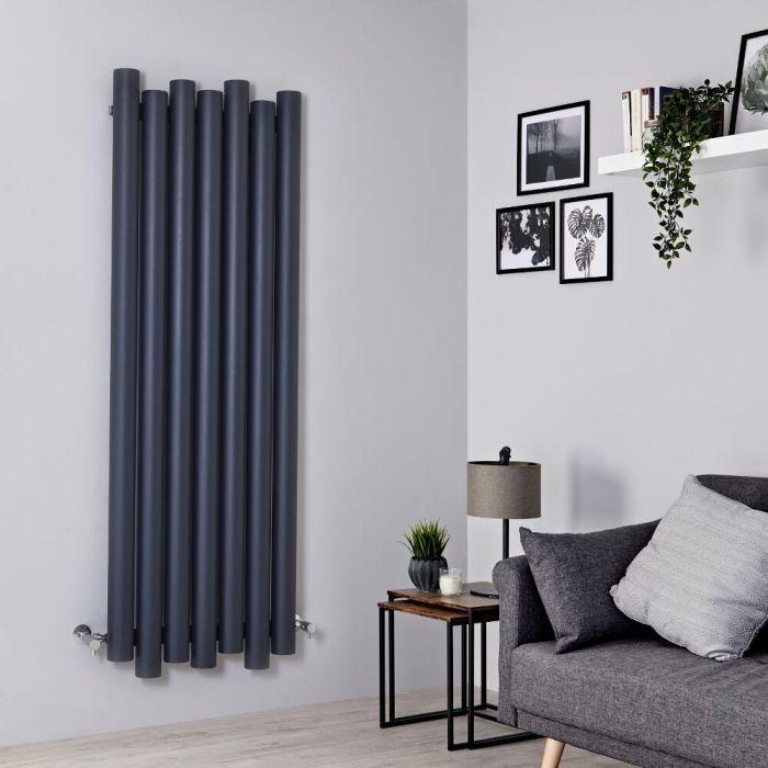 Milano Motus - Aluminium Anthracite Vertical Designer Radiator - 1600mm x 550mm
