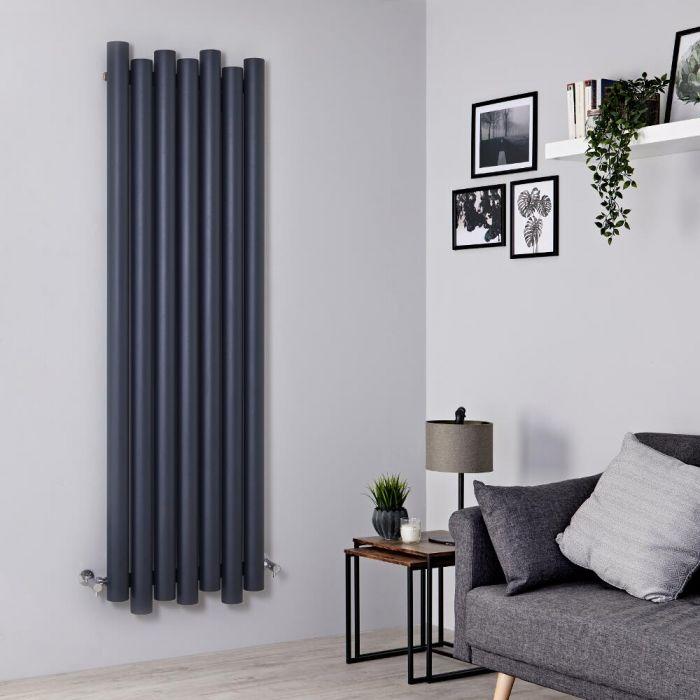 Milano Motus - Aluminium Anthracite Vertical Designer Radiator - 1800mm x 550mm
