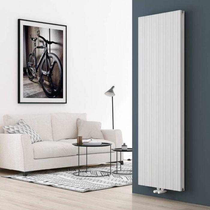 Milano Lex - Aluminium White Vertical Designer Radiator - 1800mm x 565mm (Double Panel)