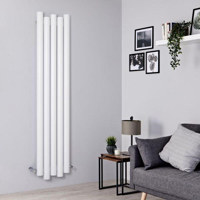 Milano Motus - Aluminium White Vertical Designer Radiator - 1800mm x 390mm